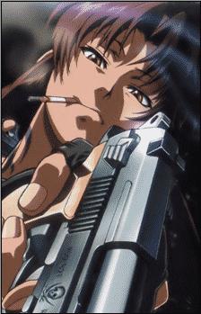 Revy from Black Lagoon yandere anime