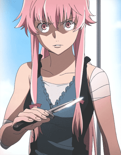 Yuno Gasai from Future Diary yandere anime characters