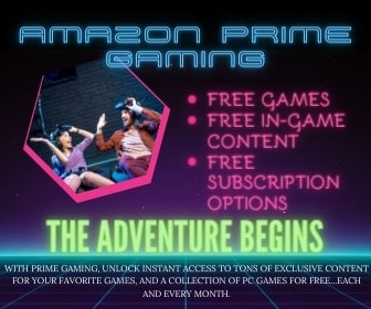 Amazon Prime Gaming Subsscription - best gifts for anime lovers who love gaming