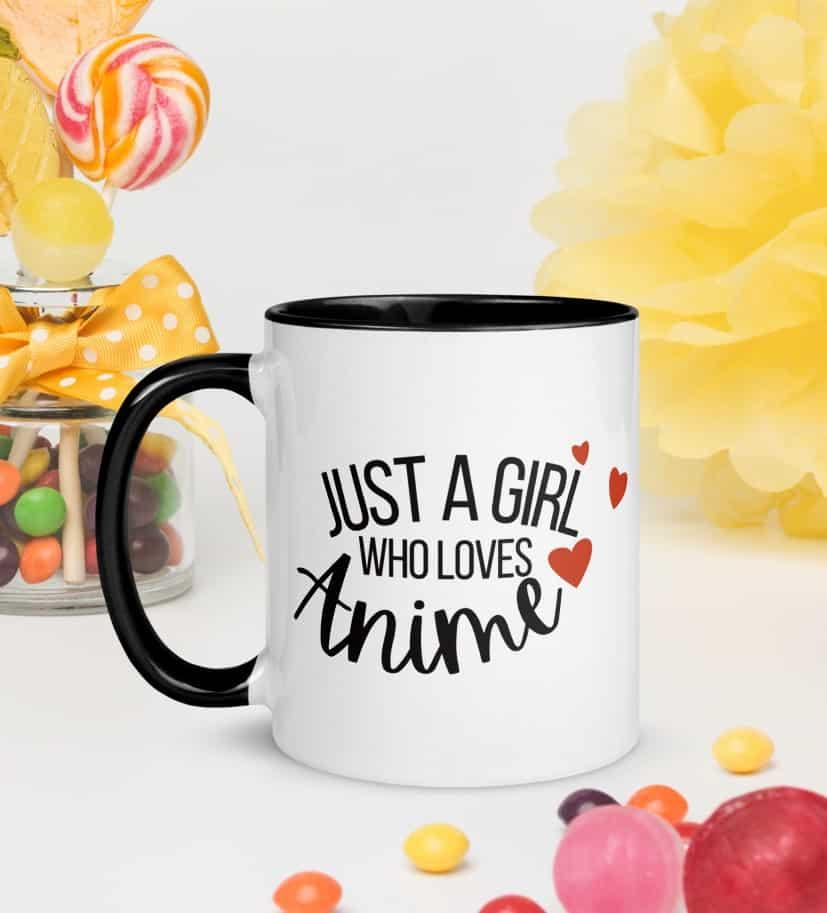 just a girl who loves anime mug for her
