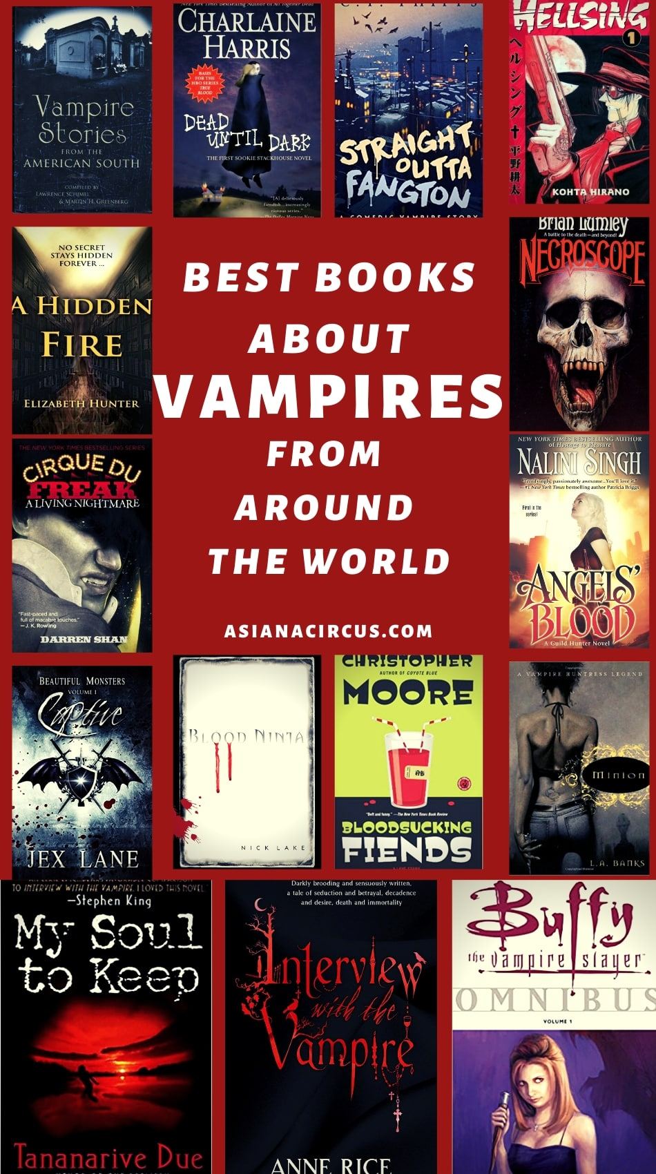 best vampire books for adults and YA books about vampires
