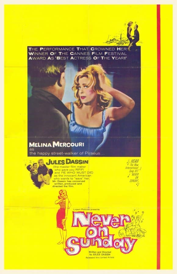 Never On Sunday 1960 - movies set in Greece - asiana circus
