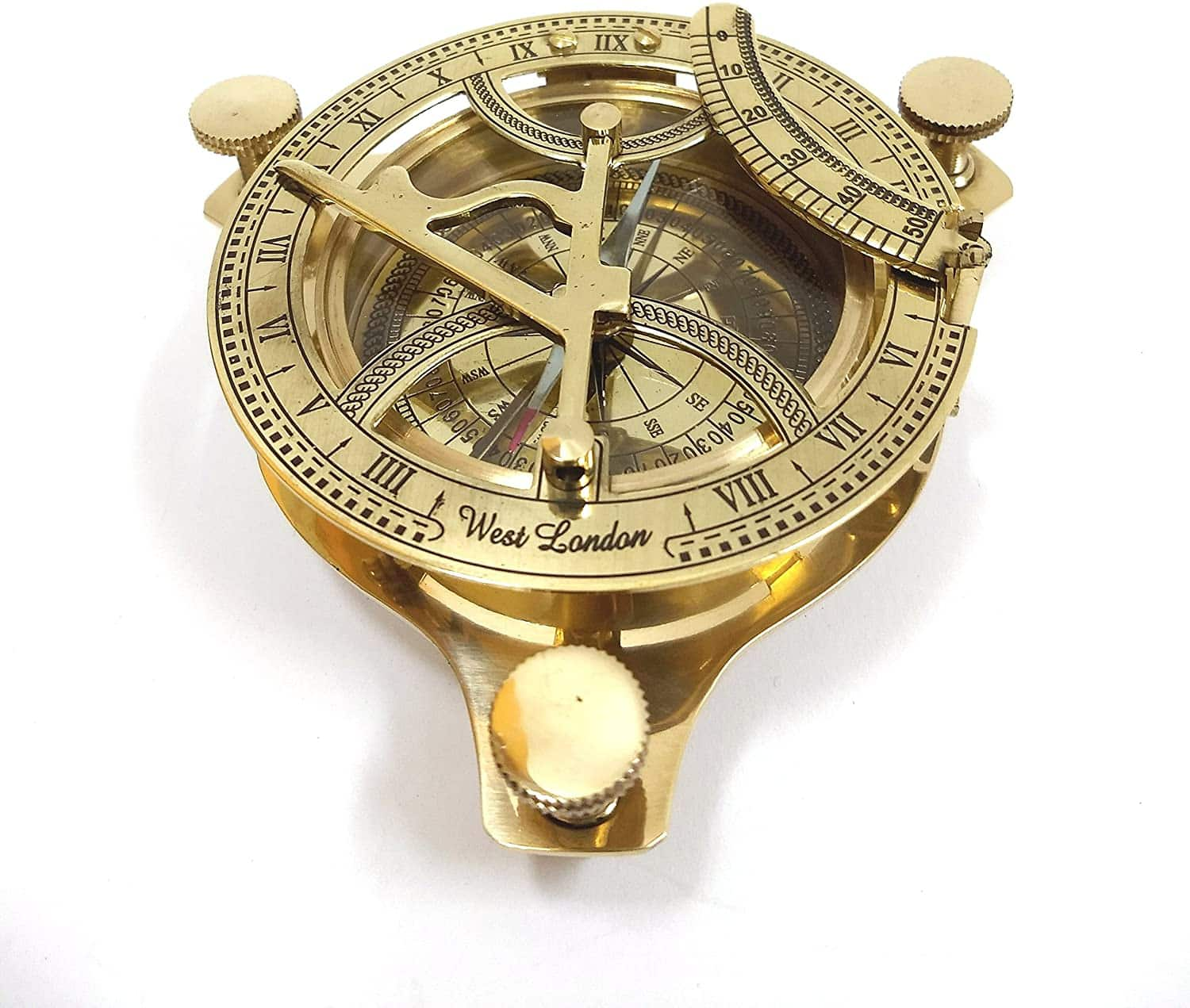 5 Sundial Compass Solid Brass Sun Dial steampunk collectibles