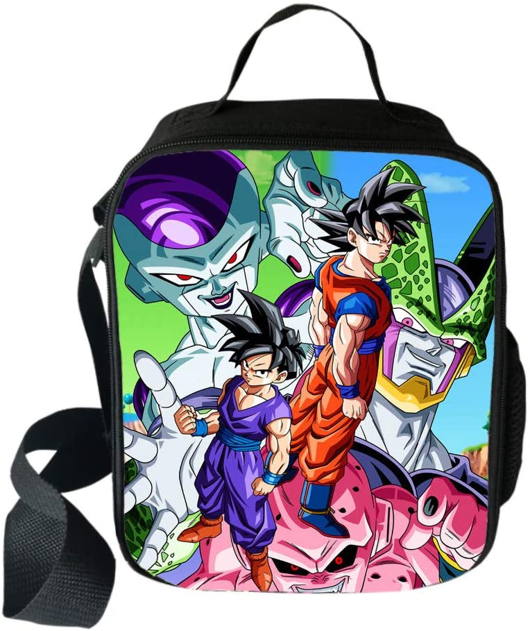 ASLNSONG Lunch Shoulder Bag Anime Dragon Ball Printed Lunch Bags Lunch Box - dragon ball z gifts for her