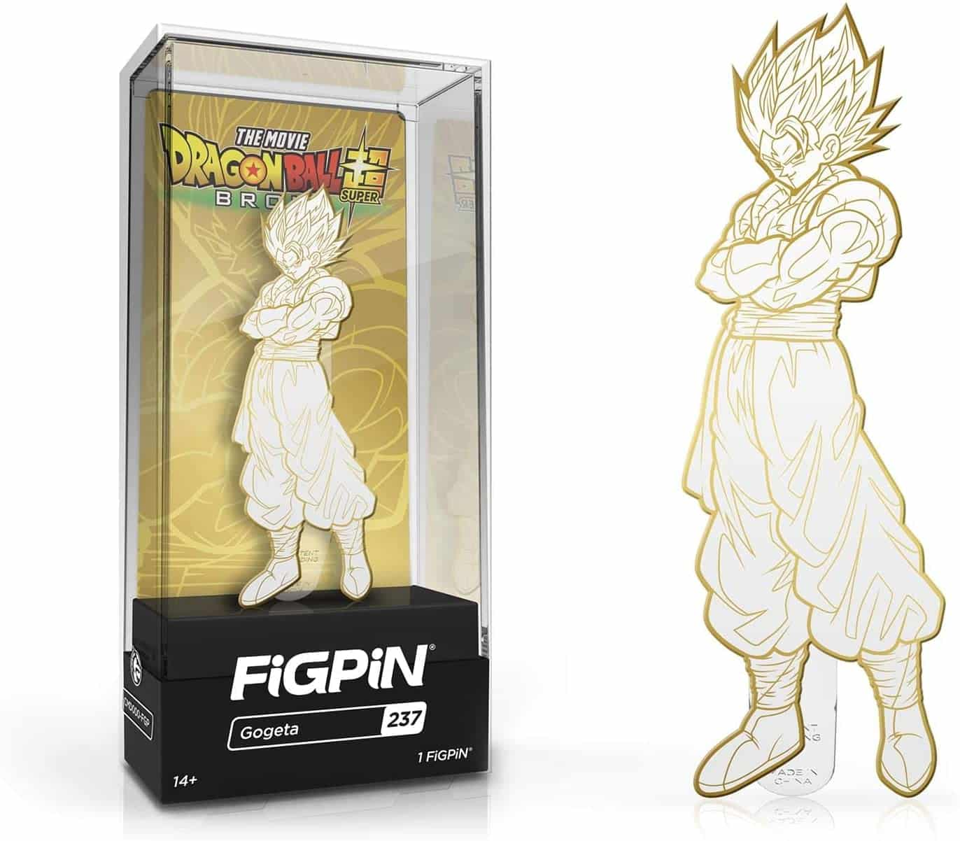 Dragon Ball Z Broly Movie Gogeta Gold White Collectible Pin