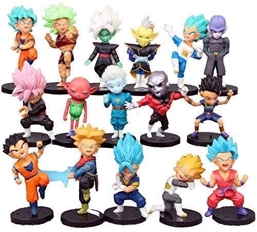 Dragon Ball Z Collectible Model 16 Piece Action Figure Set Cake Topper, Party Favor Supplies