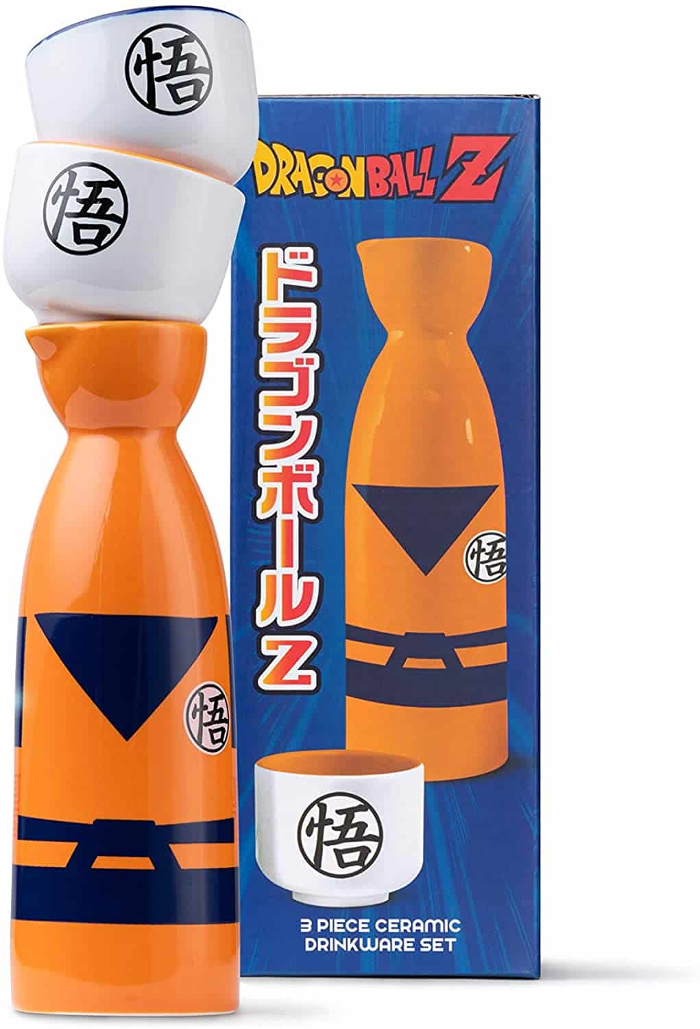 Dragon Ball Z Sake Set is one of the best gift you can give for adults. This ceramic sake set will surely make them happy.