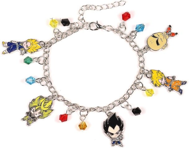Dragon ball z Charm Bracelet Anime - Dragon Ball z valentine gifts (Small)