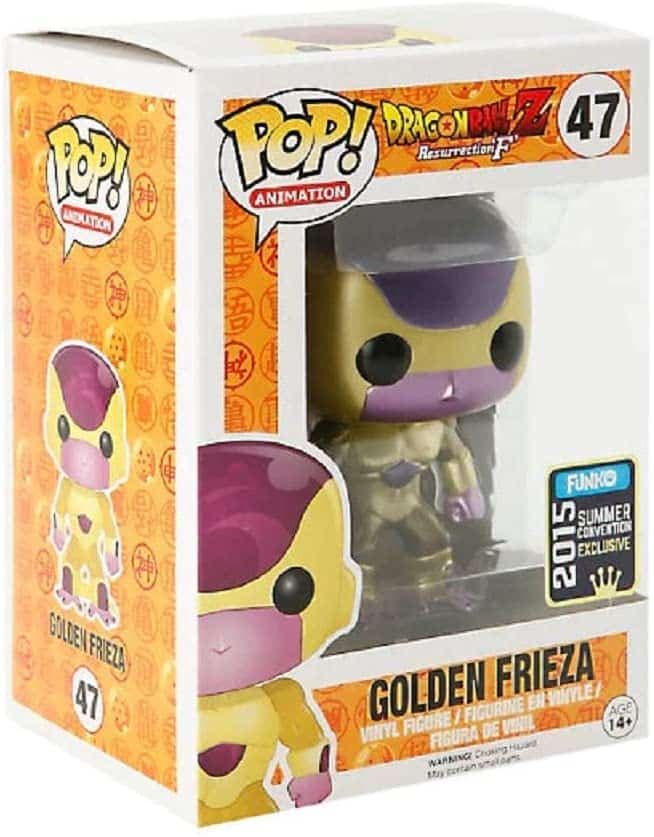 Golden Frieza Funko Pop! As negative this character is, have to admit he looks super awesome.