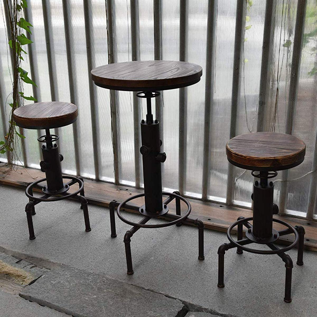 Industrial Barstool Solid Wood Water Pipe Fire Hydrant steampunk home decor ideas