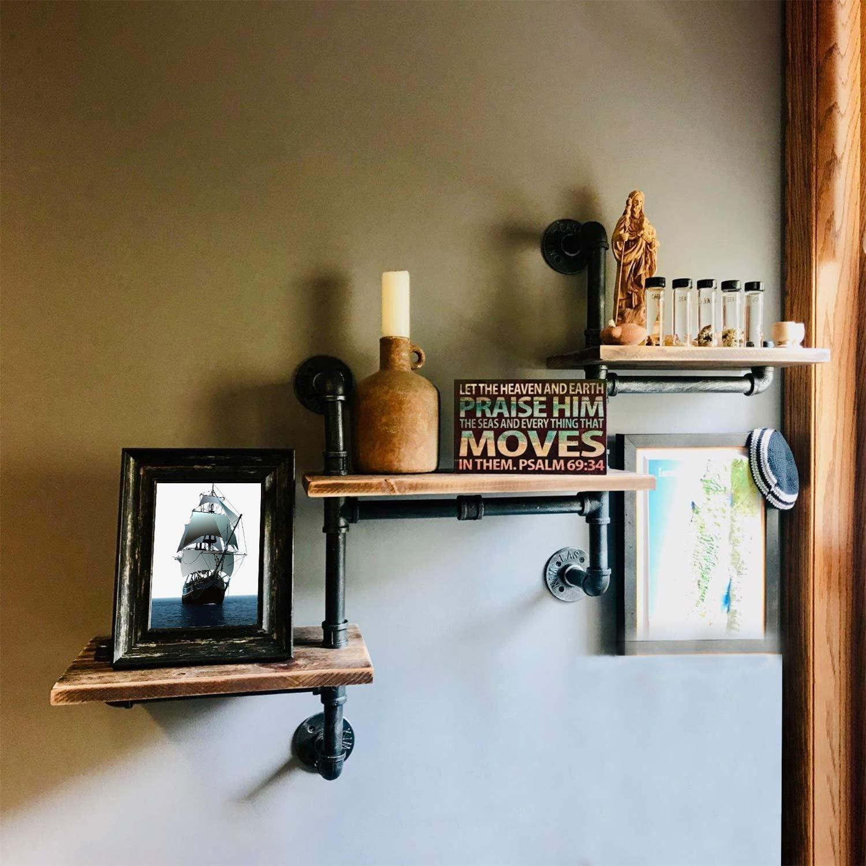 Industrial Bookshelf Pipe Shelves steampunk shelves