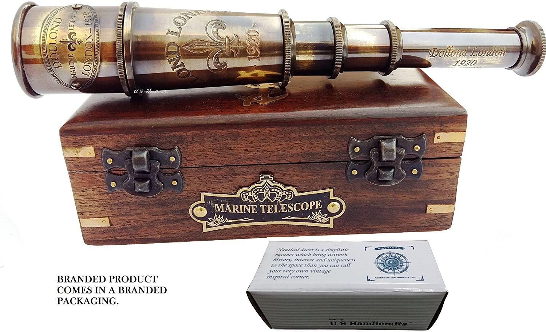 London 1920 Marine Collectible Décor Nautical Spyglass steampunk collectibles