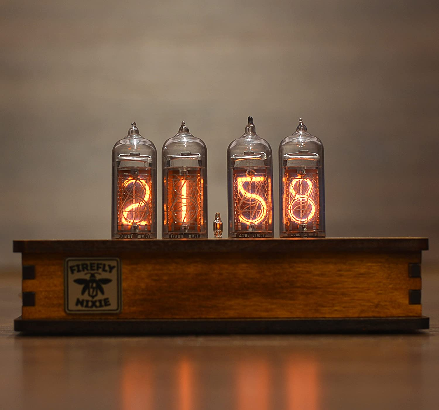 Nixie Tube Clock with New and Easy Replaceable IN-14 Nixie Tubes steampunk clock