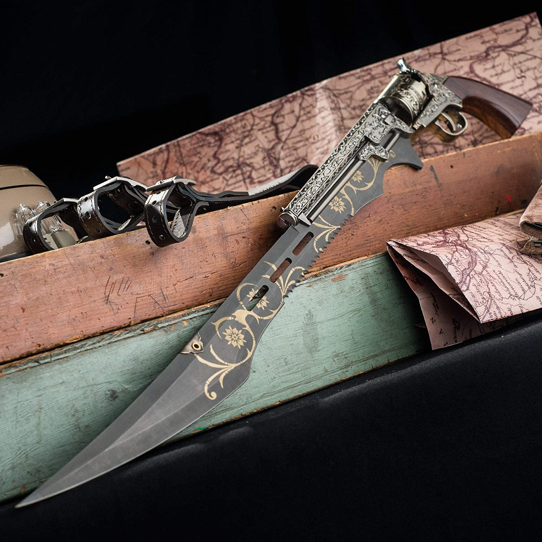 Otherworld Steampunk Gun Blade Sword - steampunk gifts