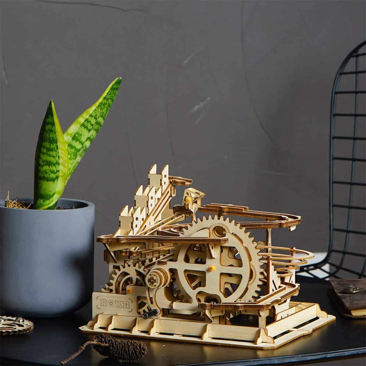 ROKR Marble Run 3D Wooden Puzzle Roller Coaster Mechanical Model Self Craft Deco Education Gift - best steampunk gifts