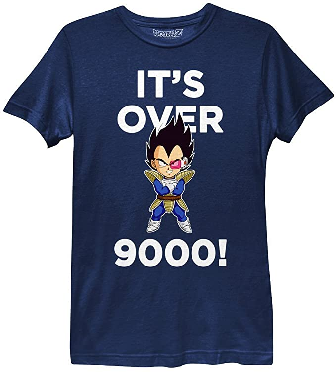 Ripple Junction Dragon Ball Z It's Over 9000! Womens T-Shirt dragon ball z gifts for her