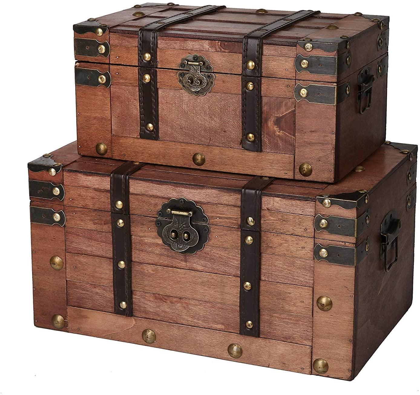 SLPR Alexander Wooden Chest steampunk storage