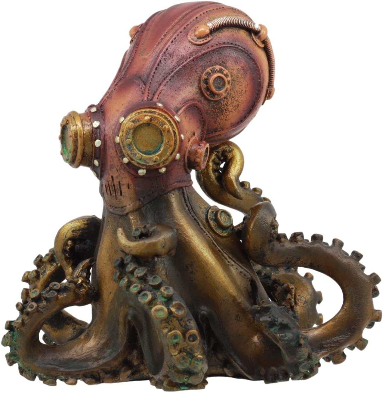 Steampunk Giant Kraken Octopus Marauder Statue steampunk collectibles