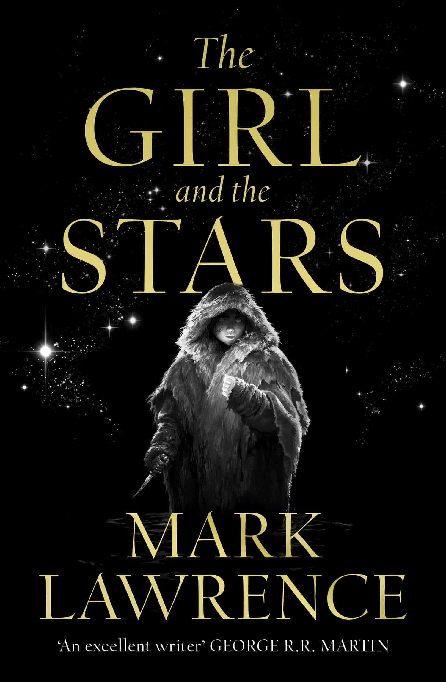 The Girl and the Stars by Mark Lawrence dark fantasy book cover