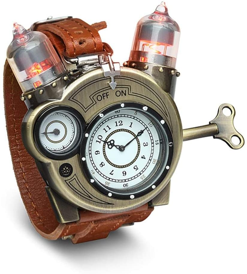 ThinkGeek Steampunk-Styled Tesla Analog Watch