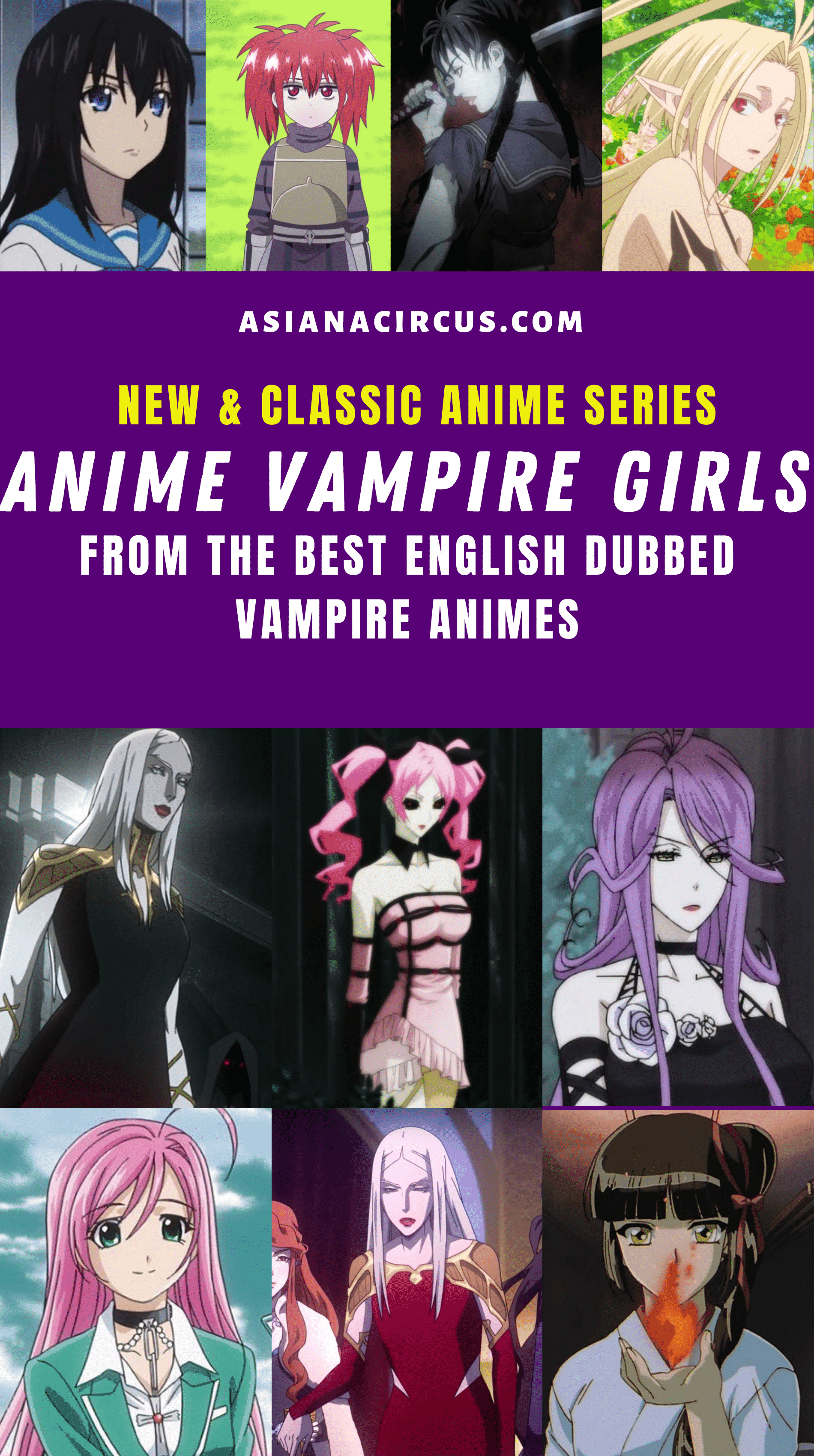 8 Best Anime Vampire Girls in English Dubbed Animes - Asiana Circus