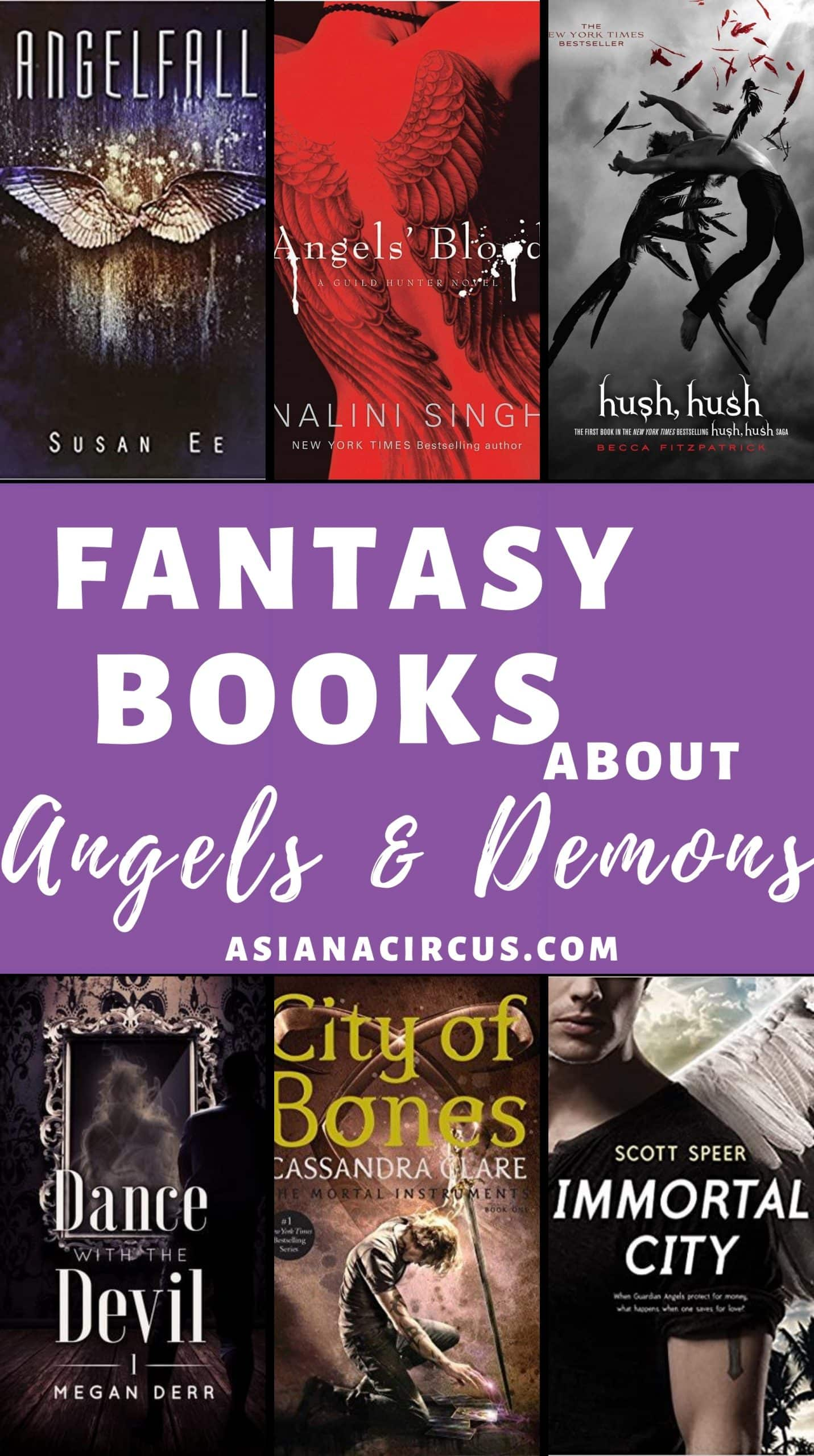 fantasy books about angels and demons