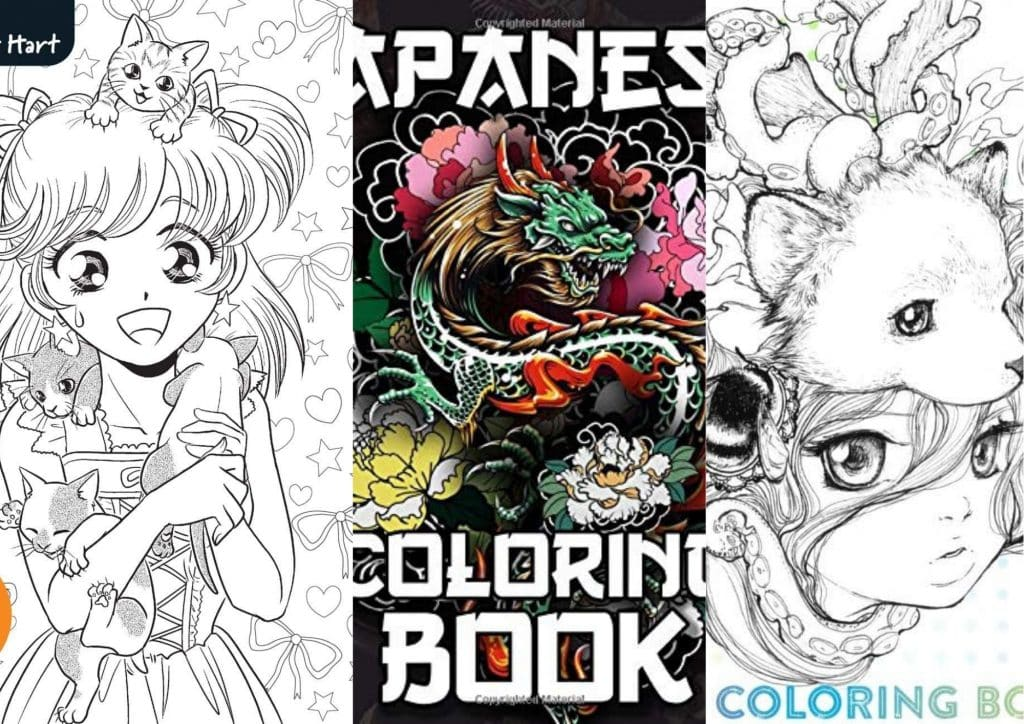 Best Manga & Anime Coloring Books For Adults