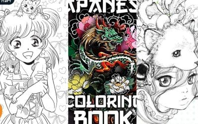 19 Best Manga & Anime Coloring Books For Adults