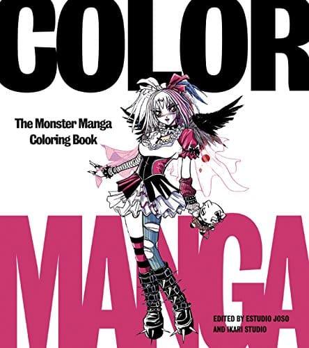 Color Manga The Monster Manga Coloring Book by Estudio Joso (Author), Ikari Studio - best manga coloring books for adults