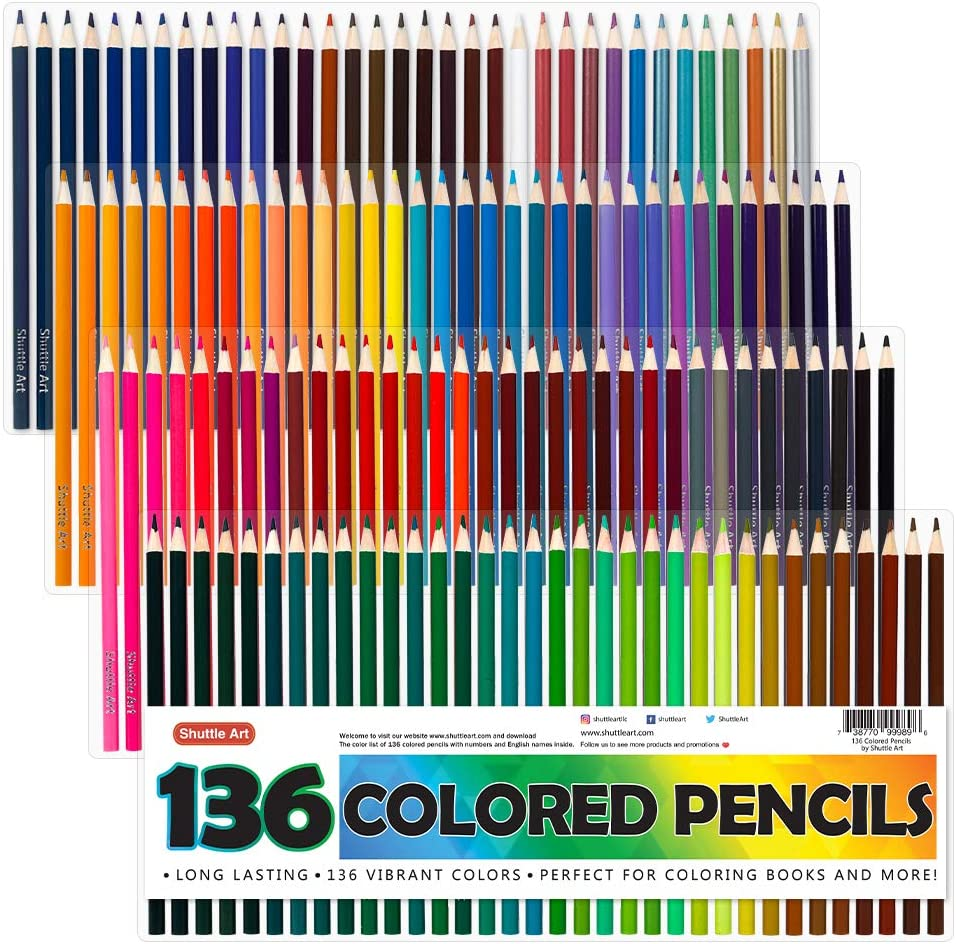 Coloring Pencils Set for Adult Coloring Books