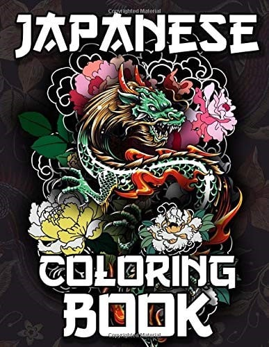 Japanese Coloring Book for Adults & Teens - best anime coloring books for adults (Small)
