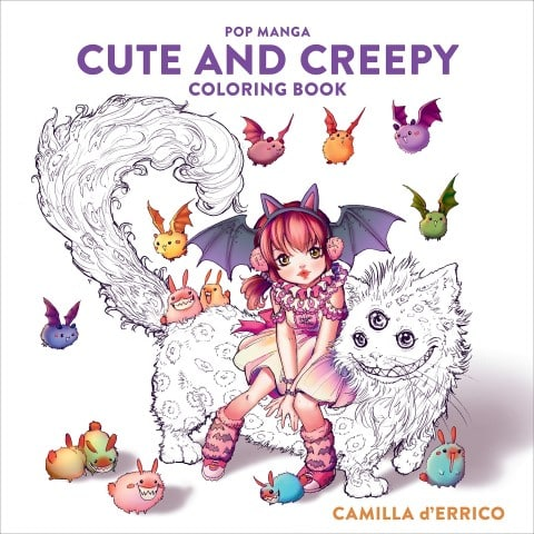 Pop Manga Cute and Creepy Coloring Book by Camilla d'Errico - best manga coloring books for adults (Small)
