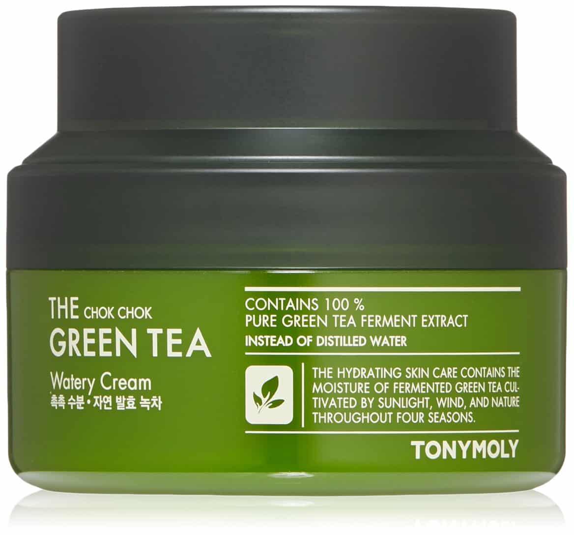 TONYMOLY The Chok Chok Green Tea Watery Cream - tony moly green tea cream