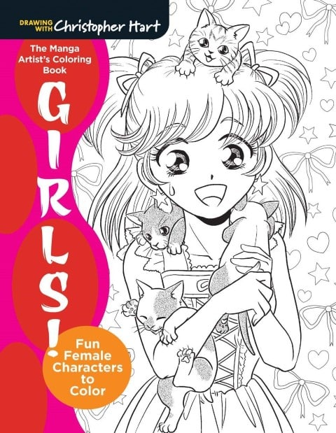 The Manga Artist's Coloring Book Girls! - best anime coloring books for adults (Small)