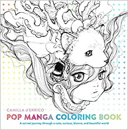 best manga & anime coloring books for adults - pop manga coloring book for adults