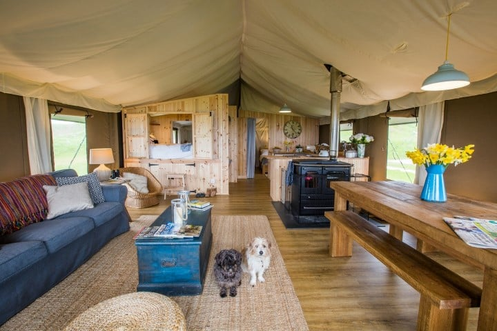 Catchpenny Safari Lodges interior - best glamping in Scotland (Small)
