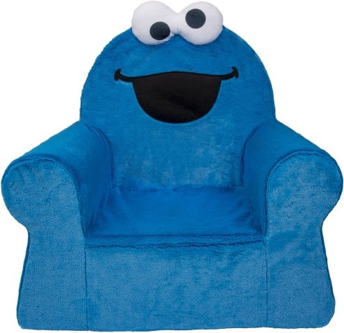 Cookie Monster Marshmallow Armchair For Toddlers - best reading chairs for kids (Small)