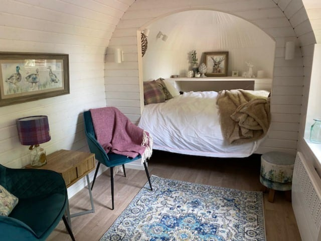 Culdees Castle Estate Glamping interior, Glamping in Culdees, Scotland (Small)