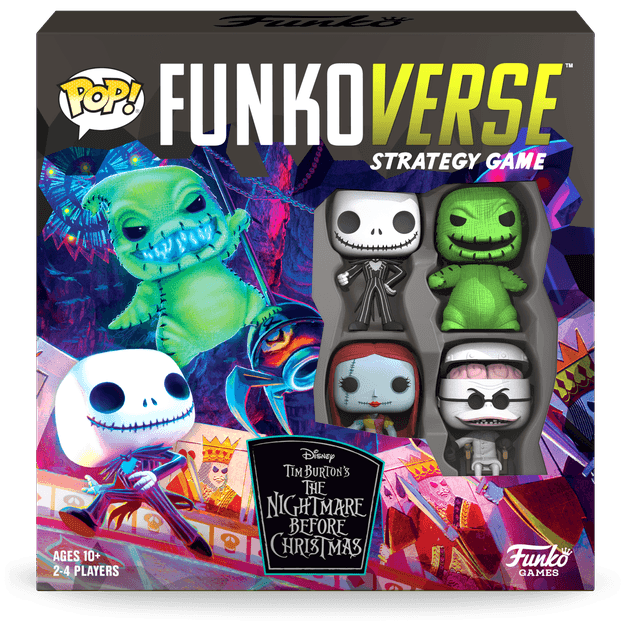 Funkoverse Disney The Nightmare Before Christmas 100 4-Pack Board Game - christmas board games for families