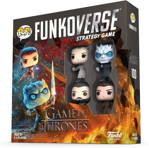 Funkoverse Game of Thrones 100 4-Pack Board Game best board games for christmas for adults (Small)