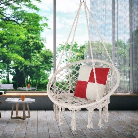 Hammock Macrame Swing Chair, cool reading chairs