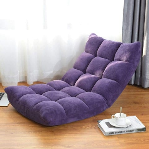 Japanese style Position Floor Folding Gaming Sofa Chair - best reading chairs (Small)