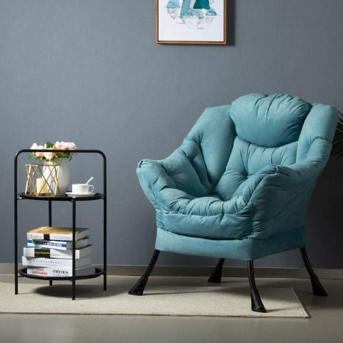 Lazy Chair with armrests and a side pocket, best comfy reading chairs for adults