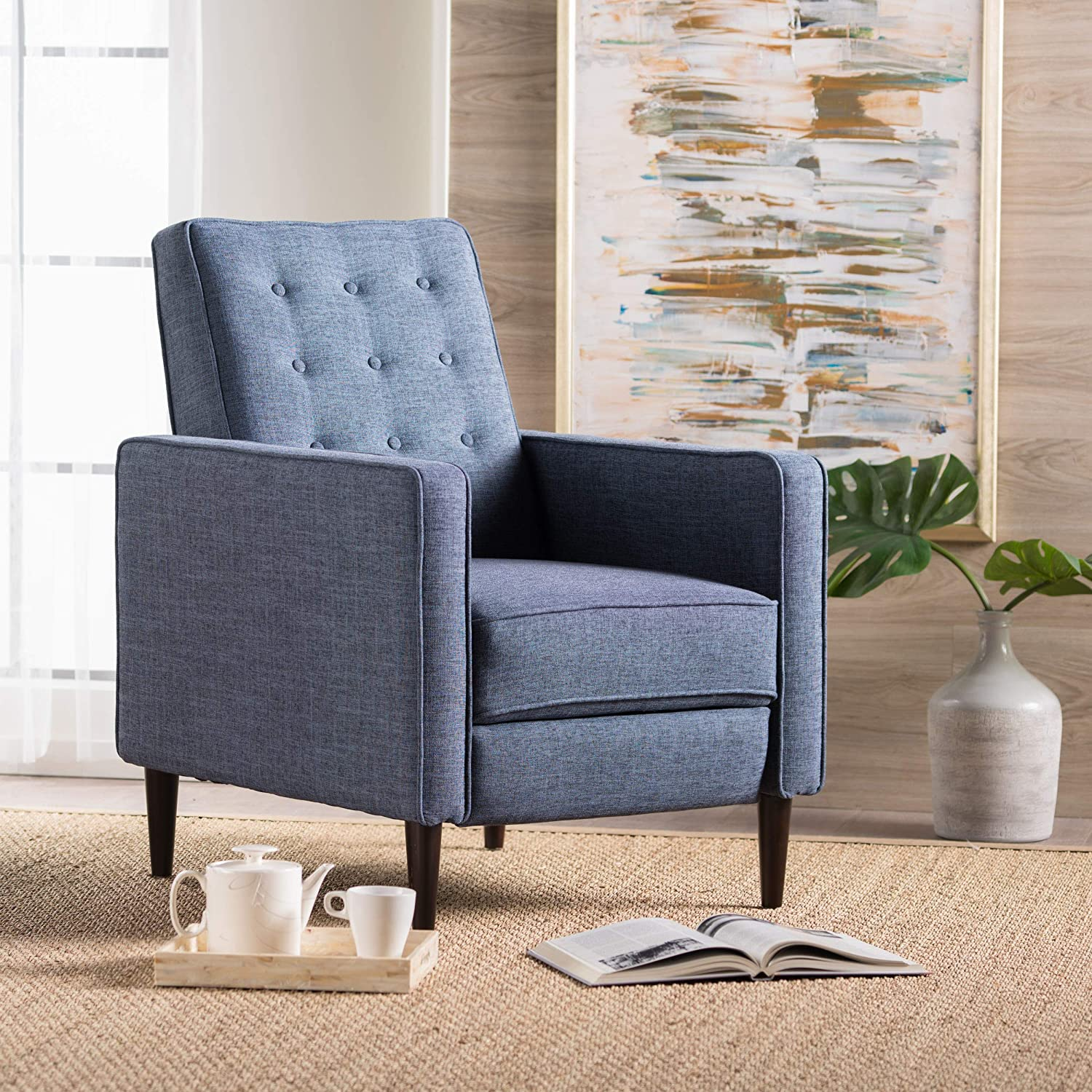 Macedonia Mid Century Modern Armchair - best armchairs for readers