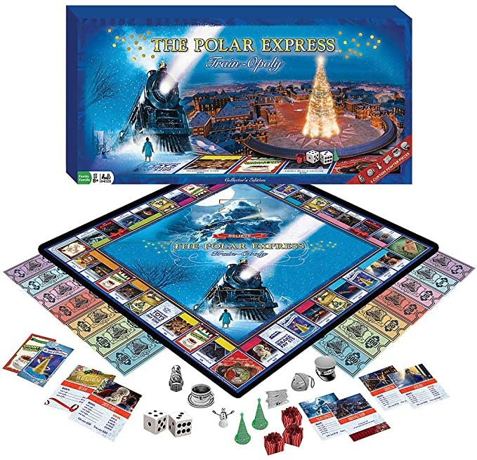 MasterPieces The Polar Express Train-Opoly Board Game - best christmas board games for families
