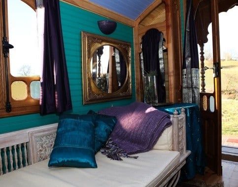 Roulotte Retreat interior, Glamping in Melrose, Scotland (Small)