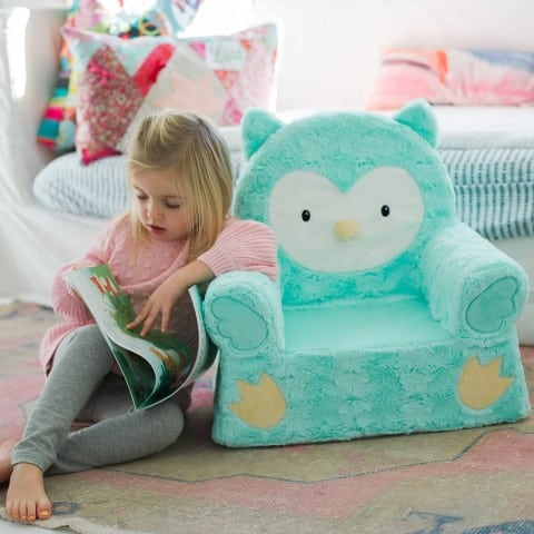 Sweet Seats Children's Plush Chair, reading armchair for kids