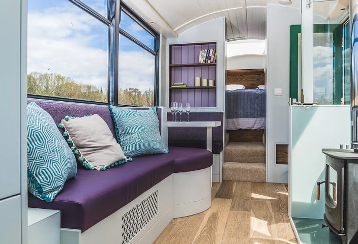 The Bus Stop, interior 2 Glamping East Lothian, Scotland (Small)