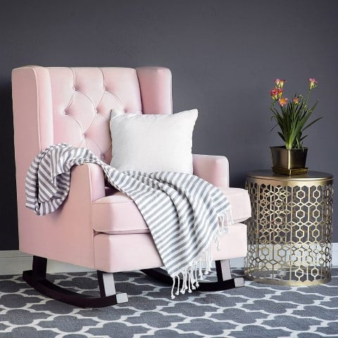 Wingback Accent Chair with Rocker, best reading chairs for book lovers