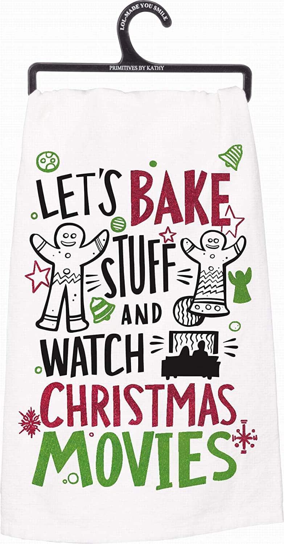 Winter Holiday Dish Towel (Christmas Movies)